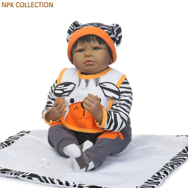 NPKCOLLECTION 50CM Real Baby Dolls Silicone Reborn Babies Bonecas with Clothes Hats,Realistic Baby Born Doll Handmade Baby Alive baby hats