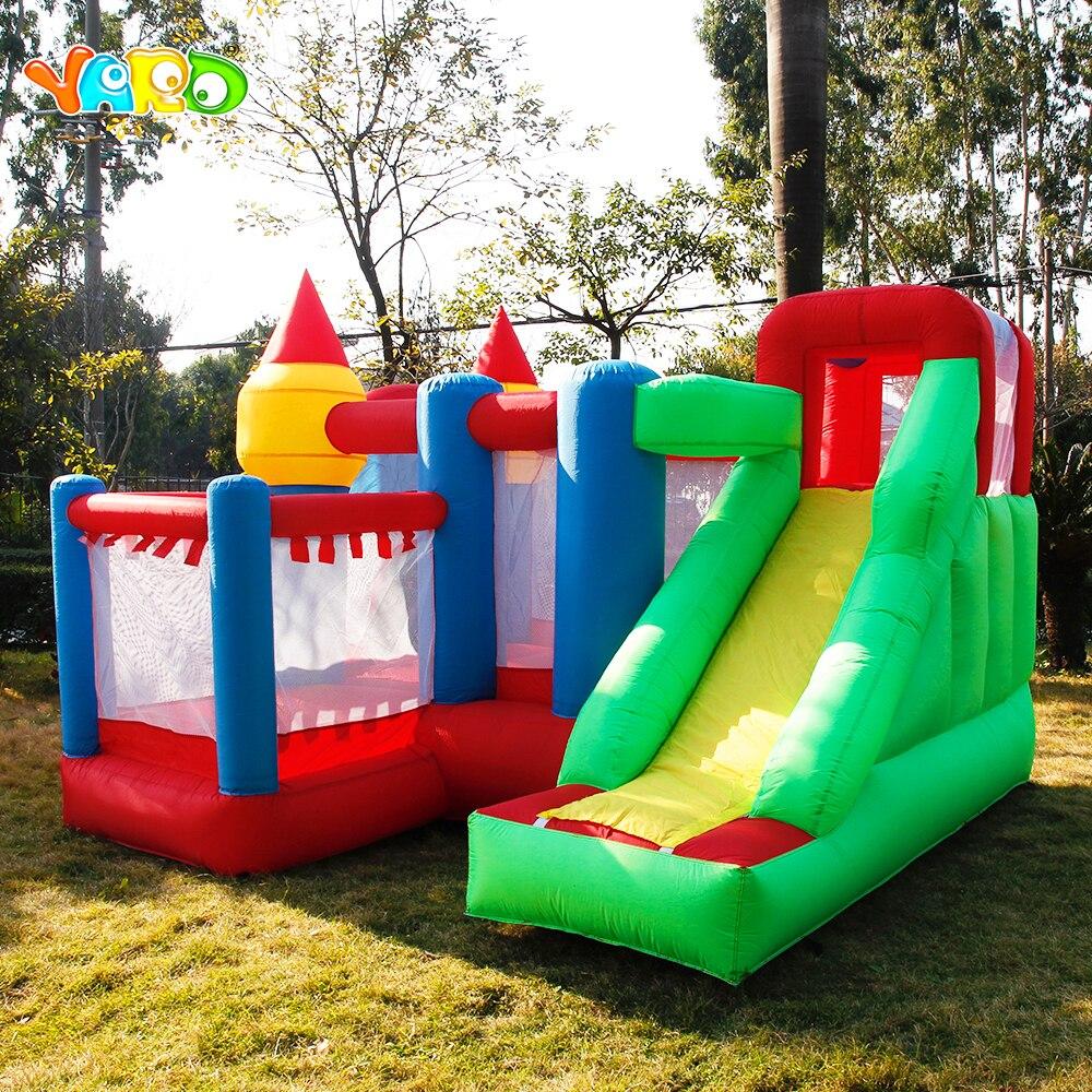Двор Надувная горка-батут шары ямы для детей два типа дома применение надувной замок Ho воздуходувы корабль Экспресс рождественские подарки