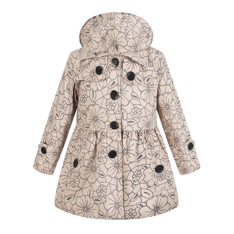 European Autumn Kids Jackets Girls Fashion Manteau Enfant Fille Cute Dot Casaco Menina Spring Girls Coats And Jackets