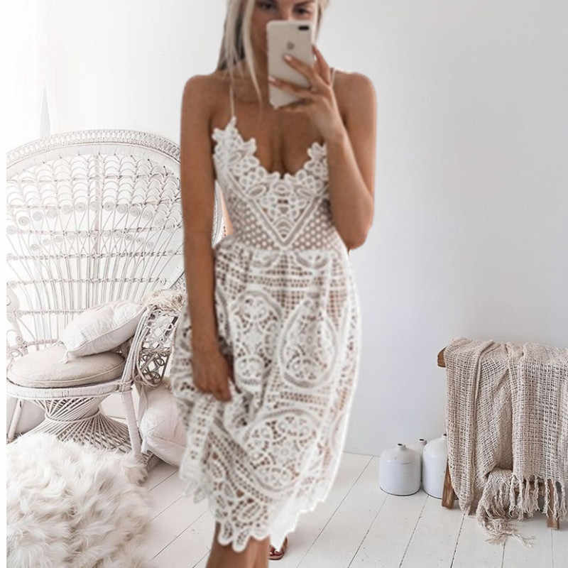 2020 New Beach Long Cover Up Bianco Del Merletto Costume Da Bagno cover up Estate Crochet Beachwear Costume Da Bagno cover Up Beach Dress