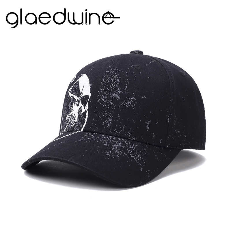 147ea66623fb0 High Quality Baseball Cap Unisex 100% Cotton Outdoor Skull Embroidery  Snapback Fashion Sports dad Hats