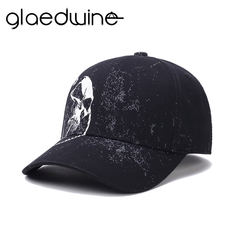 High Quality Baseball Cap Unisex 100% Cotton Outdoor Skull Embroidery Snapback Fashion Sports dad Hats For Men Women casqutte mnkncl high quality camouflage skull embroidery baseball cap 100