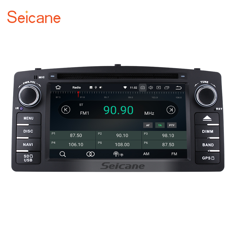Seicane Android 8.0 6.2 Car DVD Radio GPS Navigation System Multimedia Player For Toyota Corolla E120 BYD F3 2Din 800*480 Wifi