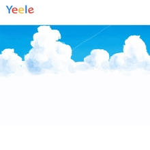 Yeele Wall Decoration Photocall Blue Sky Nice Cloud Photography Backdrops Personalized Photographic Backgrounds For Photo Studio цена
