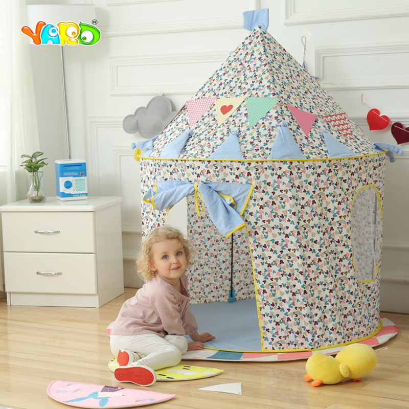Girl Pink Playhouse Kids Tents Cartoon Foldable Toy Tent Indoor Outdoor Baby Play Game Room Best Gift for Children mushroom kids play hut pink blue children toy tent baby adventure game room indoor outdoor playhouse