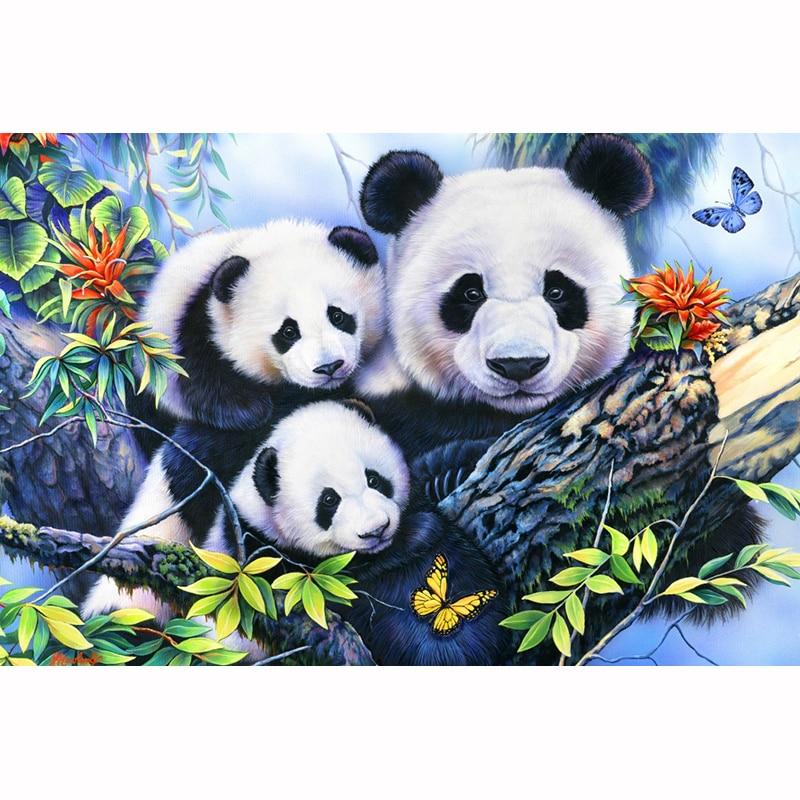 Bear Panda Full Drill DIY 5D Diamond Painting Cross Stitch Kits Mosaic Decor Art