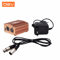 OGV 1 Channel 48V Phantom Power Supply+Adapter+One XLR Audio Cable for Any Condenser Microphone Recording