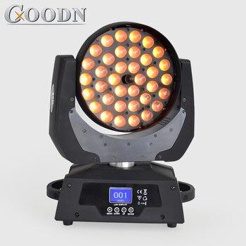 Professionelle DMX bühne licht moving head 36X18W LED zoom wash Quad mit RGBWA + UV 6in1 led licht dj
