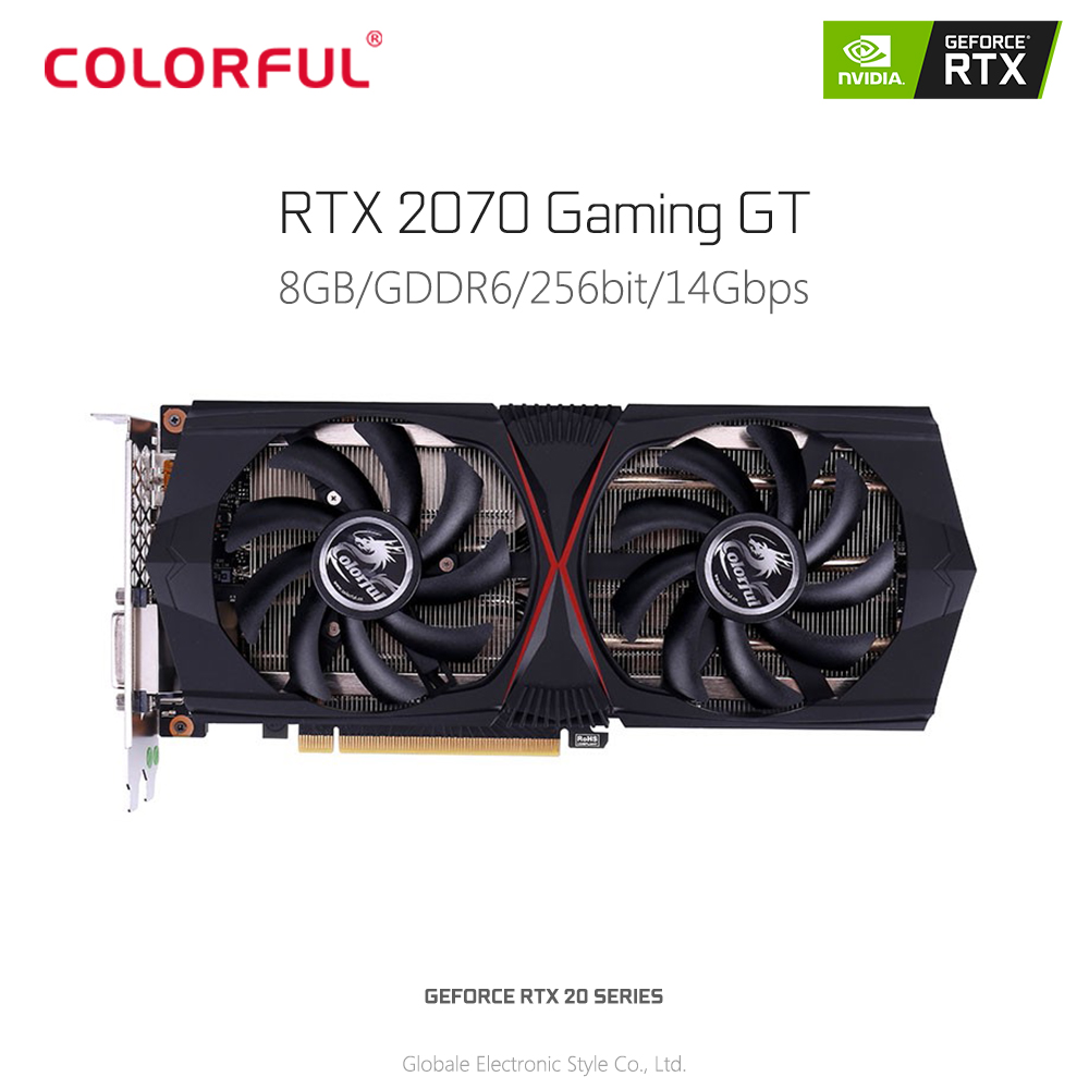 Colorful Video-Graphics-Card Gaming Rtx 2070 GT 256bit GDDR6 Geforce 8GB 12-Hdmi DVI