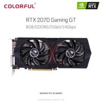 Оригинальный красочный GeForce RTX 2070 игровой GT Видео Графика карты 8 Гб GDDR6 256bit 12nm 1410 МГц DirectX 12 HDMI DVI