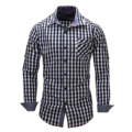 Designer Mens long sleeve dress shirt slim fit Fashion high quality mens Gray Orange Green casual dress shirts FM105