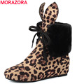 MORAZORA Más El tamaño 34-43 nuevo invierno botas de nieve zapatos planos botines con cordones dulce bellas damas de la moda zapatos de mujer
