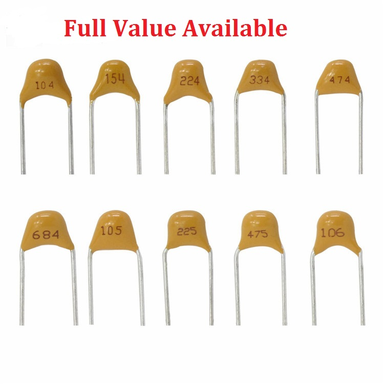 50PC Monolithic capacitor 392 393 470 471 473 474 475 561 562 820 823 5.08MM 560PF 82PF 3.9NF 560PF 82NF 50V Multilayer ceramic