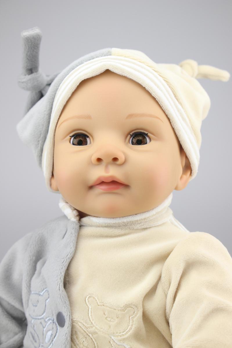22inch blink eyes vivid bebe infant Doll PP 55cm modeling Silicone Reborn realistic barehead Newborn doll kids birthday gift
