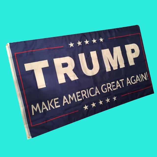 hot sale Flags 3 By 5 Foot Flag  Trump American Flag Brass Grommets  For President Selection 2016