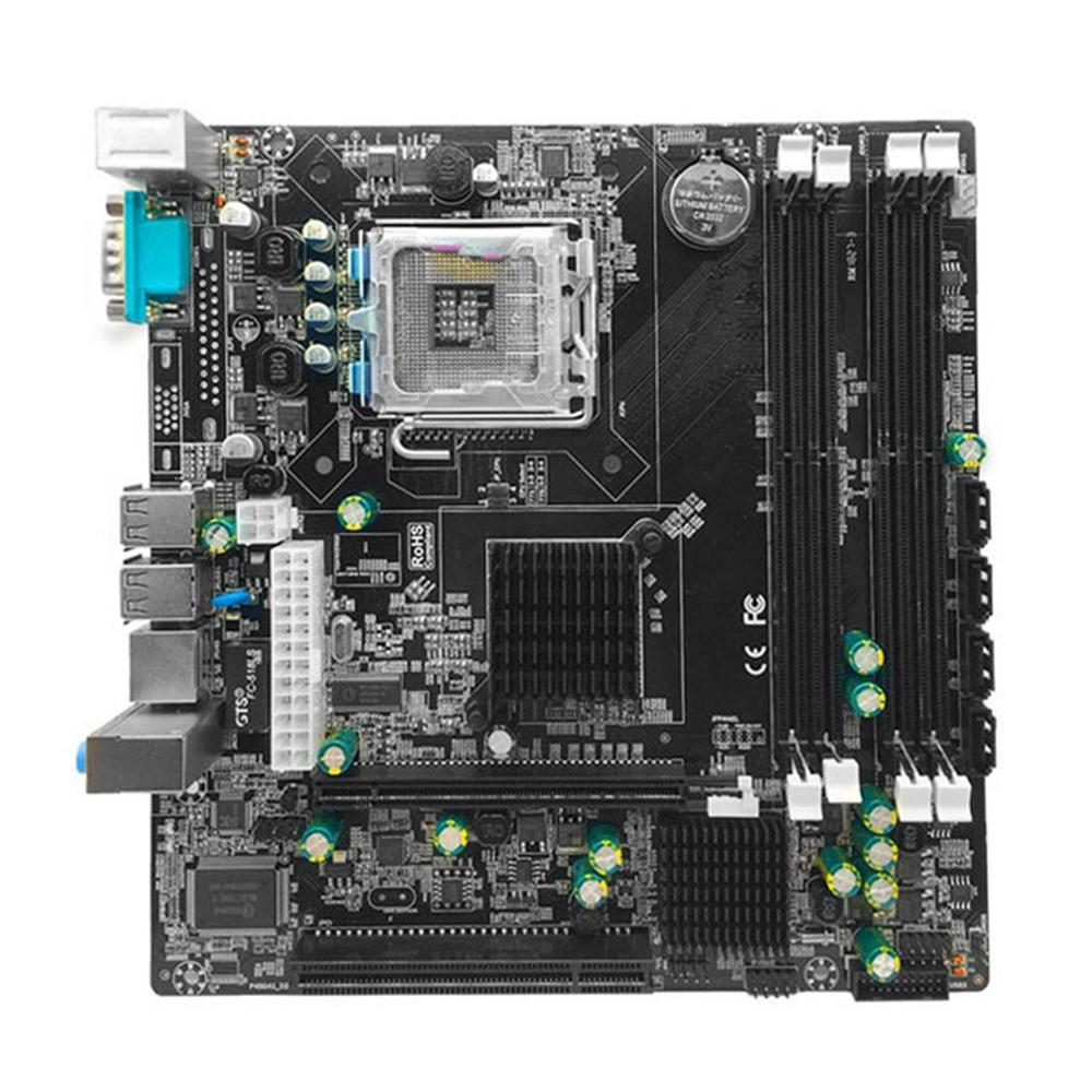 P45 Desktop Motherboard Mainboard LGA 771 LGA 775 Dual Board DDR2 Support L5420 DDR2 USB Sound Network Card SATA IDE
