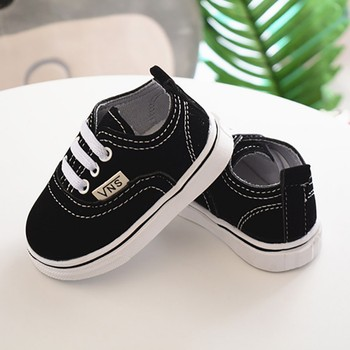 Newborn Shoes Infant Toddler Baby Boy Girl Spring Autumn Soft Bottom Spring Canvas Shoes Walkers Newborn0- 24M 1