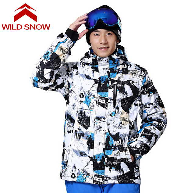 Wild Snow New Winter Ski Jackets Suit Men Outdoor Thermal Waterproof Snowboard Jackets Climbing Snow Skiing Clothes vector brand ski jackets men outdoor thermal waterproof snowboard skiing jackets climbing snow winter clothes hxf70002