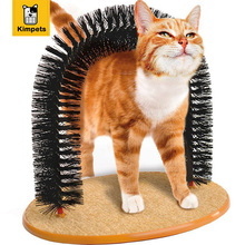 2016 New Arrival Arch Pet Cat Self Groomer With Round Fleece Base Cat Žaislų Brush Žaislai Pets Scratching Devices Nemokamas pristatymas
