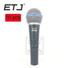 ETJ Marca 10 pcs atacado de Alta Qualidade Beta 58A 58 Clear Sound Handheld Com Fio Microfone de Karaokê