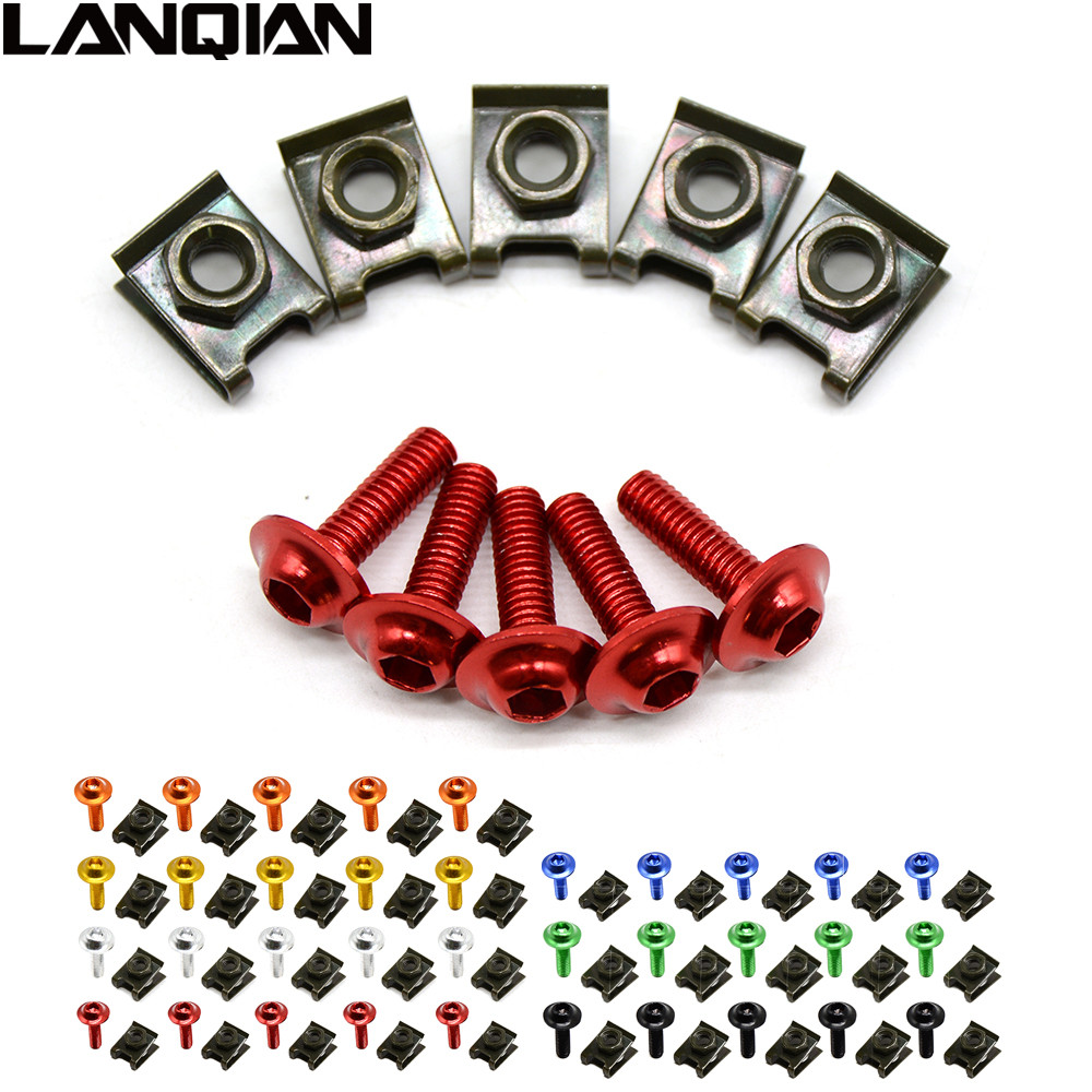 6mm Motorbike CNC Fairing body work Bolts Screws 5 pcs for Honda CB 1300 / ABS CB1300 2003-2010 SUZUKI GSXR600 2011-2014 2012