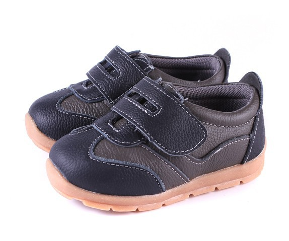 SandQ baby Boys sneakers soccers shoes girls sneakers Children leather shoes pink red black navy genuine leather flexible sole 24
