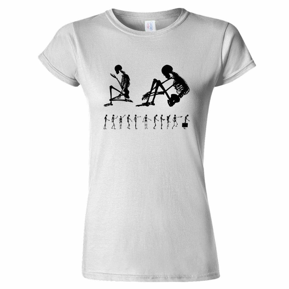 Shirts human design - Sale 100 Cotton T Shirt Modern Human Skeletons Design Skeleton Science Body Anatomy Funny Short O Neck Office Tee For Women