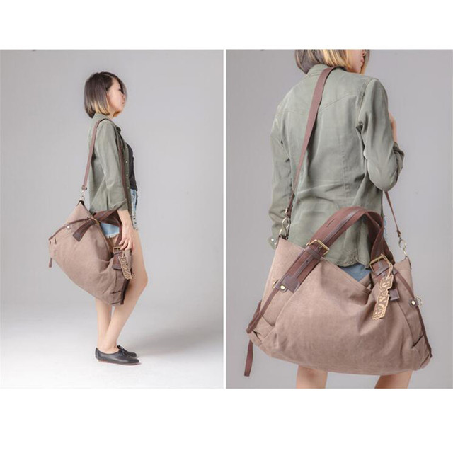 Casual High-capacity Hobos Handbags Multi-function Fashion women's Single Shoulder Bag Wear-resisting Canvas Bolsa Feminina M182