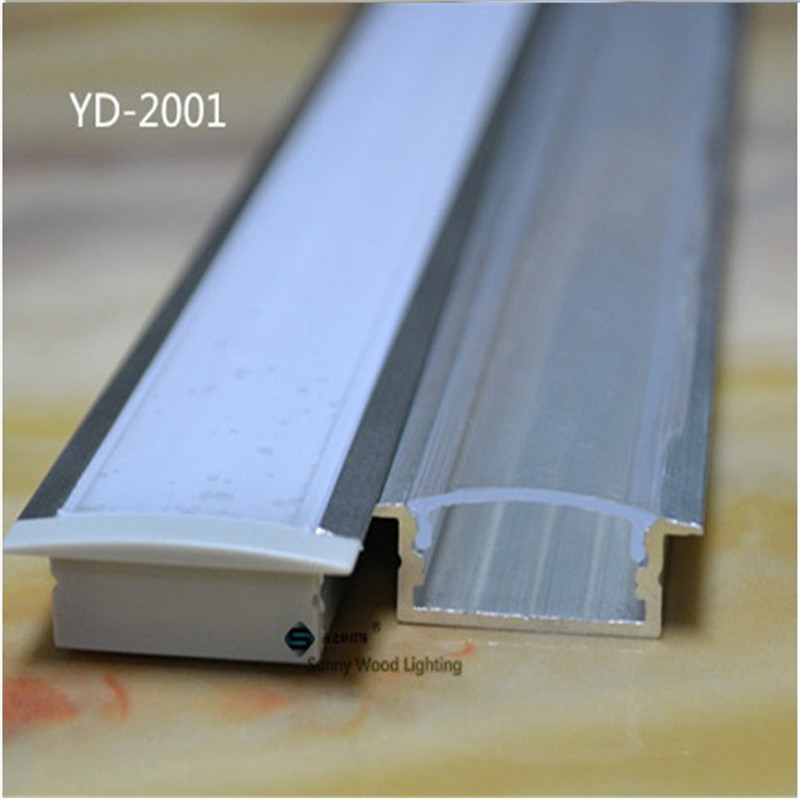 5-30pcs/lot 40inch 1m long led channel embedded aluminum profile for double row led strip,milky/transparent cover for 20mm pcb free shipping new arrival 35pcs pack 2m pcs led aluminum profile for led strips with milky or transparent cover and accessories
