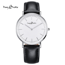 Brand TS Simple Ladies Quartz Watch Women Classic Ultra Slim Watches Leather Strap Wrist Watch Waterproof