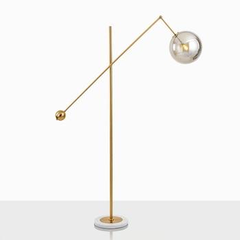 Post Modern cam küre Zemin Lambası İskandinav Tasarımcı Oturma Odası Başucu Yatak Odası LED Zemin Lambaları Dekor Ev Armatür Aydınlatma
