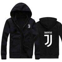 New Man Women Juventus 2017 Print Sportswear Hoodies Male Hip Hop Fleece Long Sleeve Hoodie Slim