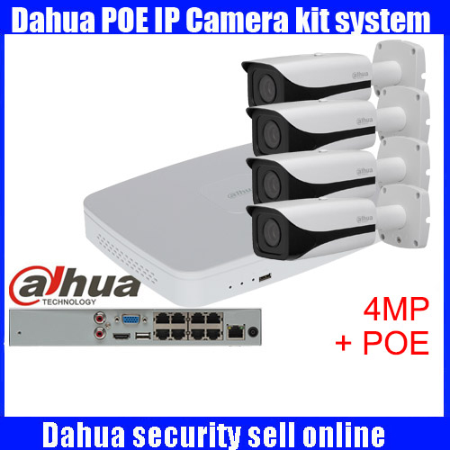 Dahua 4pcs 4MP POE IP Camera DH IPC HFW4421E System Security Camera Outdoor 8CH 1080P NVR4108