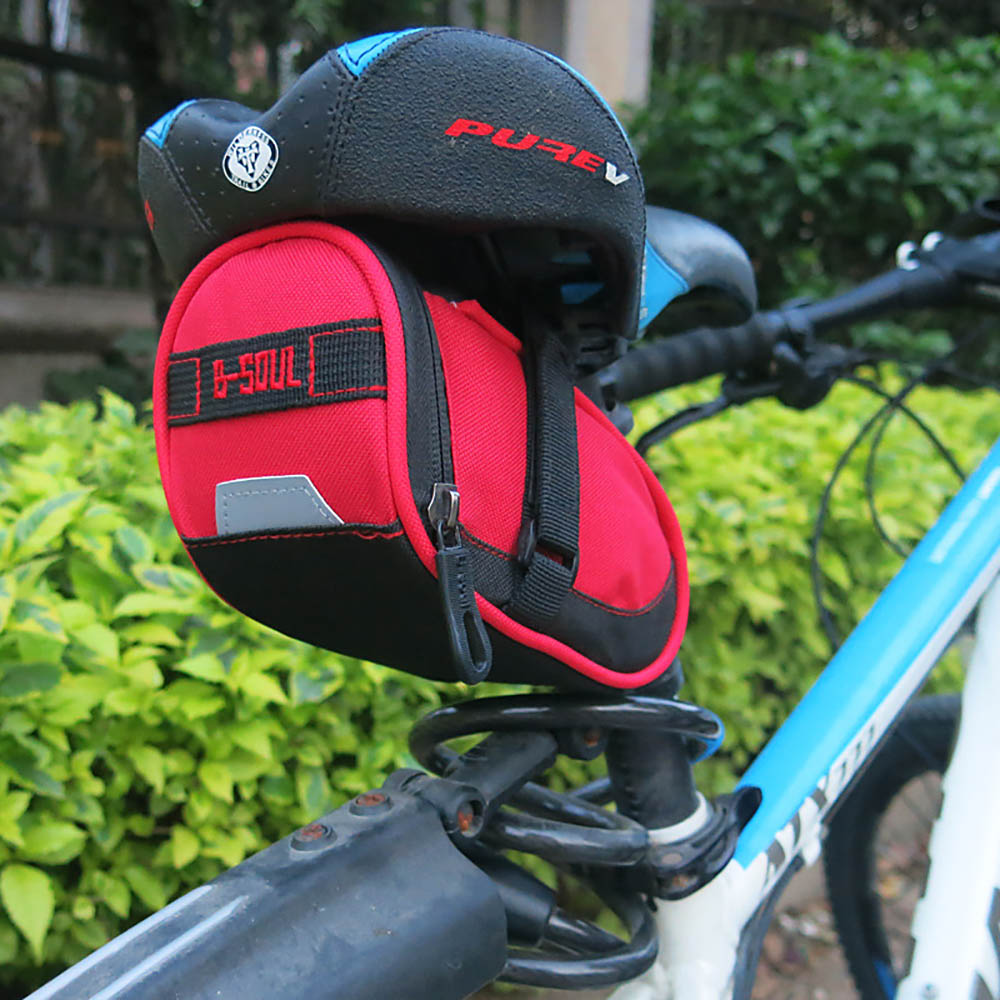 Bicycle Saddle Bag Seat Post Storage Tail Pouch Cycling MTB Road Bike Jian