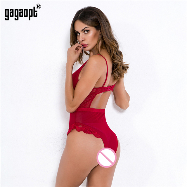 Gagaopt 8 Colors Lace Bodysuit Women Floral Embroidery White/Black Sexy Bodysuit Backless Mesh Bodysuit Jumpsuit Overalls 4