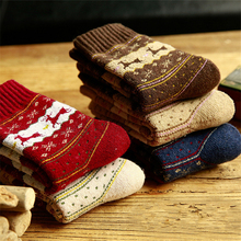5pairs Hot Sale Women Cashmere/Dehaired Angora Blended Winter Thick Warm Socks
