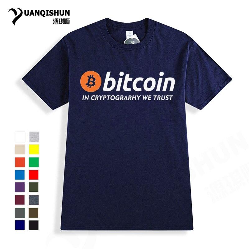 Monnaie numérique Bitcoin T-shirt 2018 nouveau Bitcoin en Cryptograrhy nous faisons confiance à T Shirt de haute qualité marque hommes femmes T-shirt à manches courtes