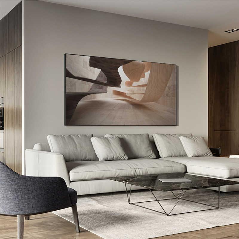Moderne Industriellen Stil Poster Print Schwarz n Weiß Geometrische Stadt Leinwand Malerei Große Wand Kunst Bild für Wohnzimmer Tableaux