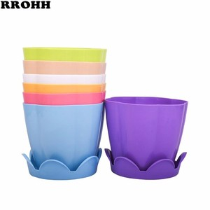 Image 2 - 1PCS Thick Plastic flower fleshy flower Pot Home Gardening Species Strawberry Seedlings Large Potted Green flower Pots with Tray