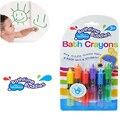 6 unids/lote NUEVO Niño Del Bebé Bathtime Lavable Crayones Baño Juego Divertido Juguete de Los Niños Educativos