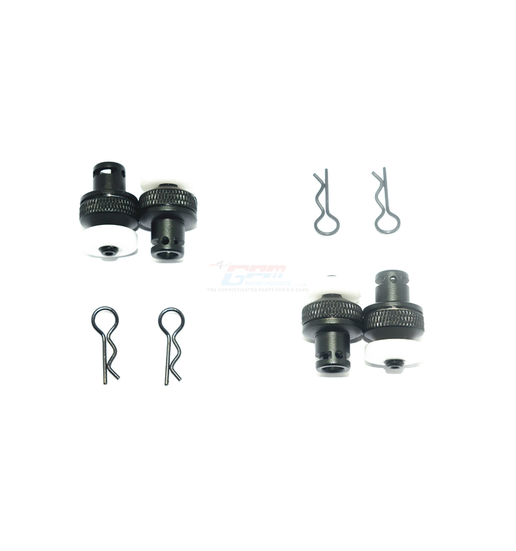 1 Set for Traxxas LaTrax GPM aluminum front /& rear magnet body post