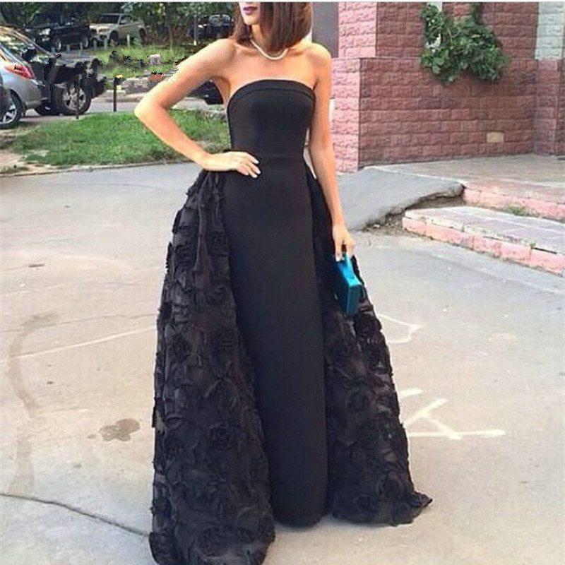 Black Wedding Dress With Detachable Train: New Style Black Sweetheart Detachable Skirts Quinceanera
