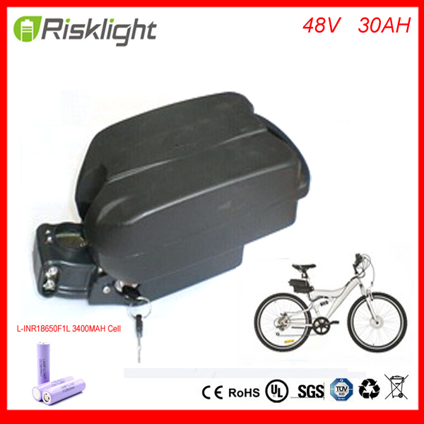 48v 30ah lithium ion ebike battery Frog  case bicycle electric bike battery 48v  1000w with charger kit  For  LG Cell 48v 34ah triangle lithium battery 48v ebike battery 48v 1000w li ion battery pack for electric bicycle for lg 18650 cell