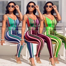 New 2018 Sexy Striped Jumpsuits