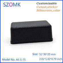 2pcs a lot szomk plastic diy good qualtity abs materil ectronicl project instrument box tableros enclosure housing 51*36*20mm
