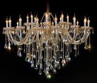 24 Главы французский Сельский коньяк хрустальная люстра свет вилла салон D100cm большой кафе старинные лампа люстры