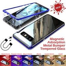 Роскошный металлический каркас чехол для телефона Магнитный для samsung Galaxy S10 S9 S8 плюс Чехол S10e Note 8 для samsung Note 9 чехол