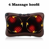 8 4 Head Neck Massager Car Home Shiatsu Massage Neck Relaxation Back Waist Body Electric Massage