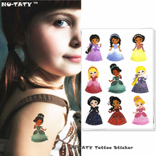 Nu-TATY Flash Barbie Doll Child Temporary Tattoo Body Art Flash Tattoo Stickers 15x10cm Waterproof Henna Styling Wall Sticker