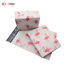 50 pcs 25.5*33 ซม. 10*13 นิ้วแฟชั่น Flamingo Pink รูปแบบโพลี Mailers Self Seal พลาสติก mailing ซองจดหมายกระเป๋า